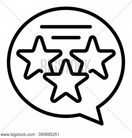 Mentor Star Chat Icon. Outline Mentor Star Chat Vector Icon For Web Design Isolated On White Backgro