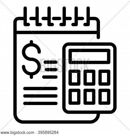 Mentor Money Calculator Icon. Outline Mentor Money Calculator Vector Icon For Web Design Isolated On