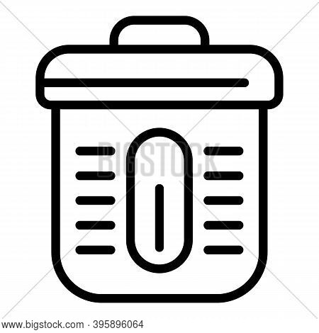 Cook Smoke Production Icon. Outline Cook Smoke Production Vector Icon For Web Design Isolated On Whi