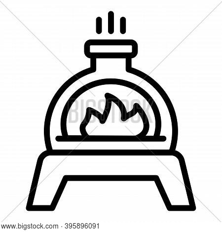 Smoker Fire Cooking Icon. Outline Smoker Fire Cooking Vector Icon For Web Design Isolated On White B