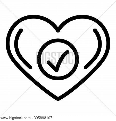 Strong Heart Icon. Outline Strong Heart Vector Icon For Web Design Isolated On White Background