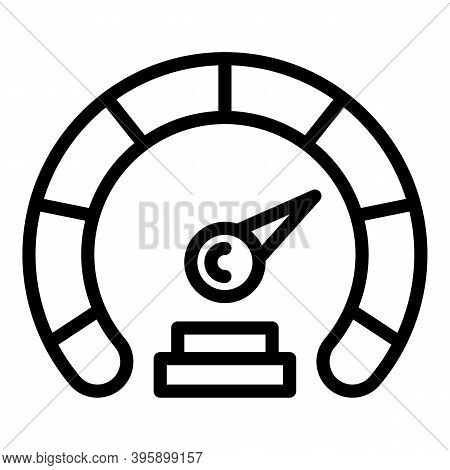 Speed Internet Indicator Icon. Outline Speed Internet Indicator Vector Icon For Web Design Isolated