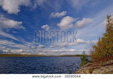 Autumn Skies On A Wilderness Lake