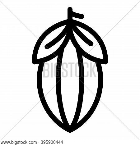 Cocoa Beans Icon. Outline Cocoa Beans Vector Icon For Web Design Isolated On White Background