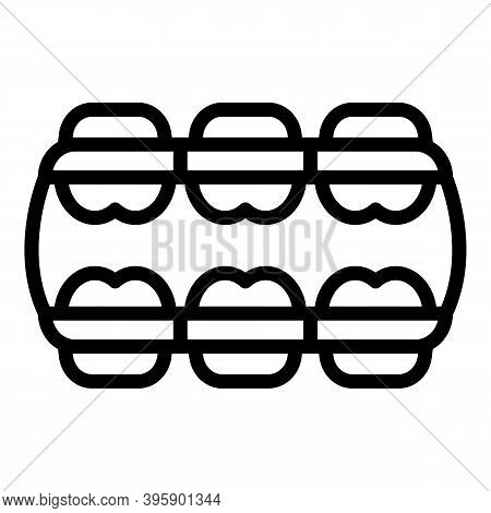 Teeth Alignment Icon. Outline Teeth Alignment Vector Icon For Web Design Isolated On White Backgroun