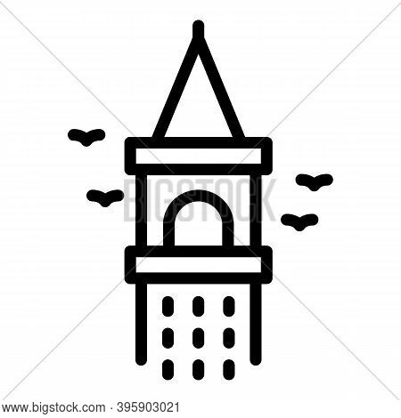 Galata Tower Icon. Outline Galata Tower Vector Icon For Web Design Isolated On White Background