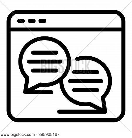 Webinar Chaticon. Outline Webinar Chat Vector Icon For Web Design Isolated On White Background
