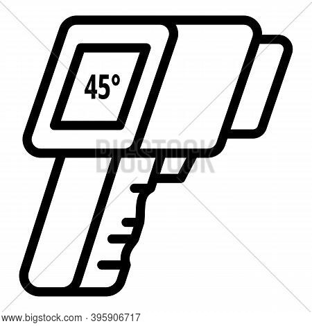Gun Thermometer Icon. Outline Gun Thermometer Vector Icon For Web Design Isolated On White Backgroun