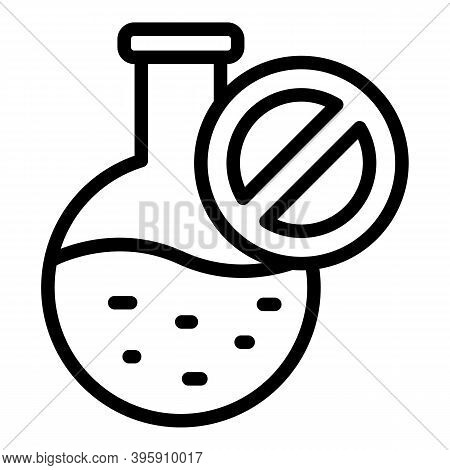 Round Flask Icon. Outline Round Flask Vector Icon For Web Design Isolated On White Background