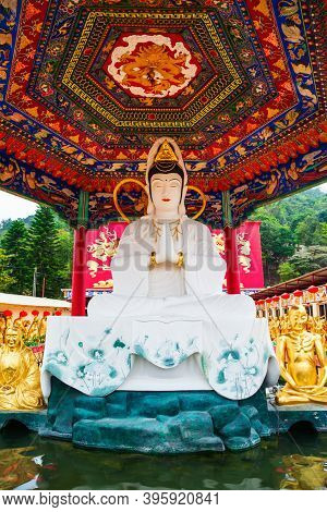 Guanyin Or Guan Yin Pavilion At The Ten Thousand Buddhas Monastery Or Man Fat Sze, A Buddhist Temple