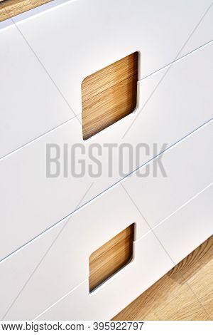 Modern Wardrobe With Finger Pull Design. Wooden Wardrobe With Light Gray Cabinet Doors. Modern Furni