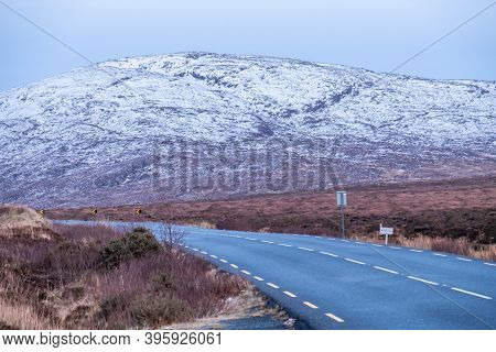 The R251 Road Close To Mount Errigal, The Highest Mountain In Donegal - Ireland