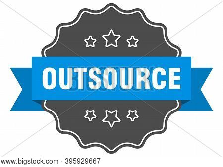 Outsource Label. Outsource Isolated Seal. Sticker. Sign