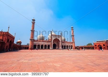 Jama Masjid Of Delhi Or Masjid E Jahan Numa Is One Of The Largest Mosques In India, Located In Old D