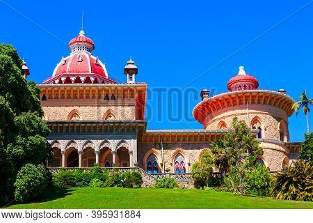 Monserrate Palace Or Palacio De Monserrate Is Located In Sintra Town Near Lisbon In Portugal