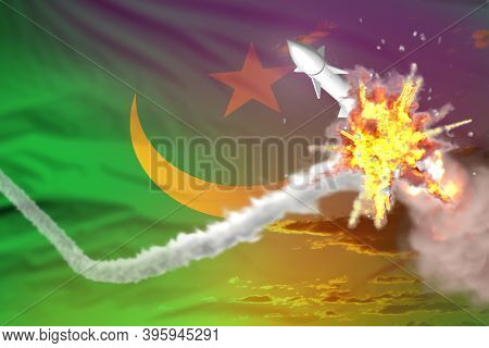 Strategic Rocket Destroyed In Air, Mauritania Ballistic Missile Protection Concept - Missile Defense