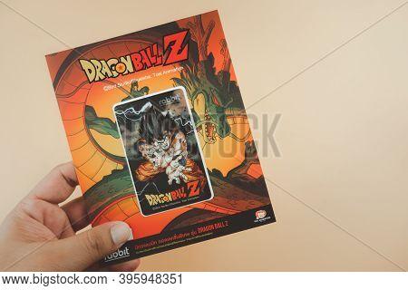 Bangkok, Thailand - November 22, 2020 : Young Man Hand Holding Of The New Collection Of Rabbit X Dra
