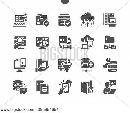 Big Data. User Analysis, Database Security. Network Folders, Software Developer. Cloud Technology. V