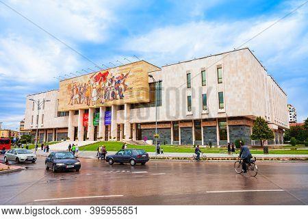 Tirana, Albania - May 27, 2013: National Museum Of History Is A Historical Museum In Tirana, Albania