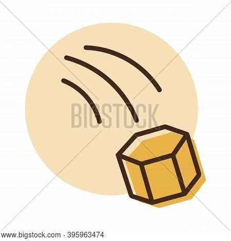 Thrown Stone Or Paving Stones Or Paving Slabs Vector Icon. Demonstration, Protest, Strike, Revolutio