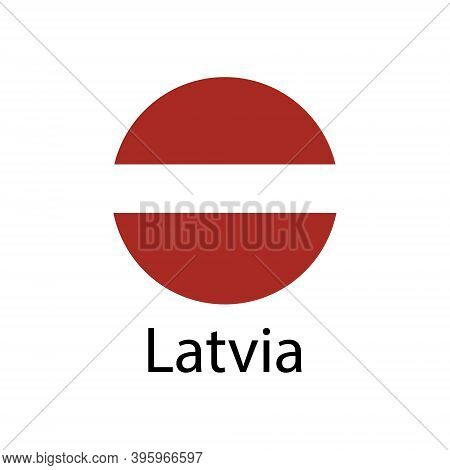 Latvia Flag. Official Colors And Proportion Correctly. National Flag Of Latvia.