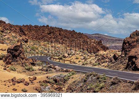 Teide National Park - Near To The Volcano, Street.