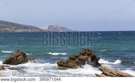 View Of Sardinia Coast With Castelsardo