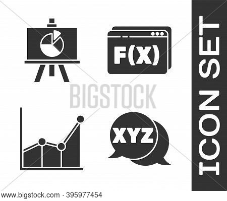 Set Xyz Coordinate System, Chalkboard With Diagram, Graph, Schedule, Chart, Diagram And Function Mat
