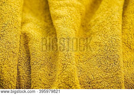 Yellow Terry Cloth Towel Texture, Yellow Terry Towel