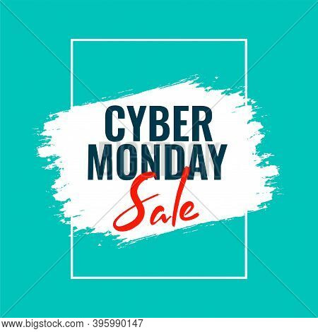 Cyber Monday Sale Template Banner For Online Shopping