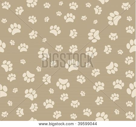 Background animal footprints vector illustration