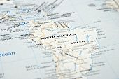 This is an image of south america map. poster