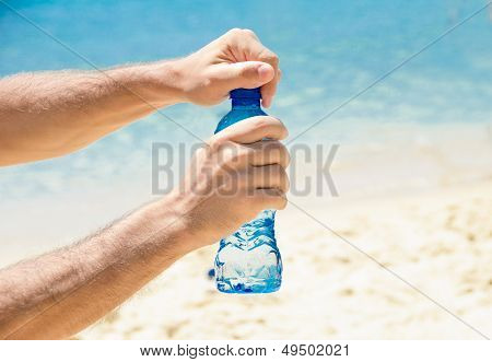 Cold Water At The Beach