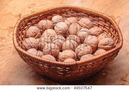 Basket Full Of Walnuts