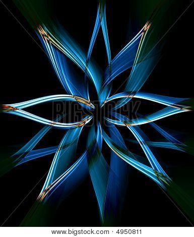 Dreamlike Blue Flower.