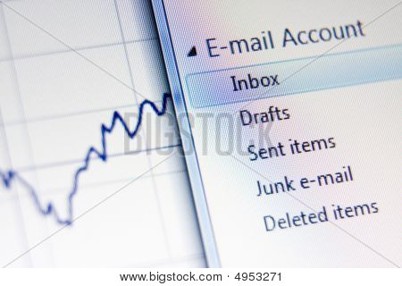 Business Related Email Concept Shot
