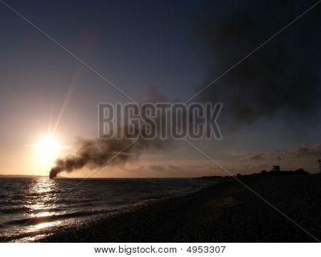 Black Smoke Billowing