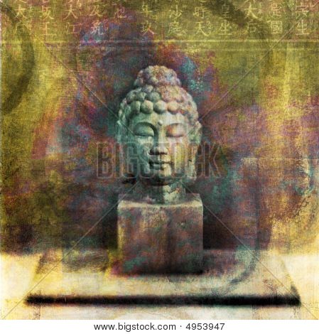Buddha Head Meditating