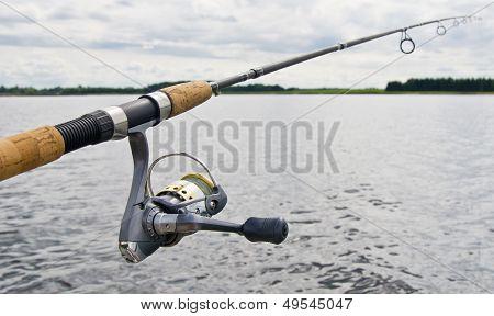 Fishing Reel On Rod