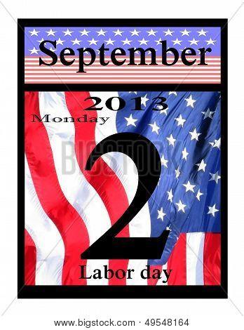 2013 labor day calendar icon