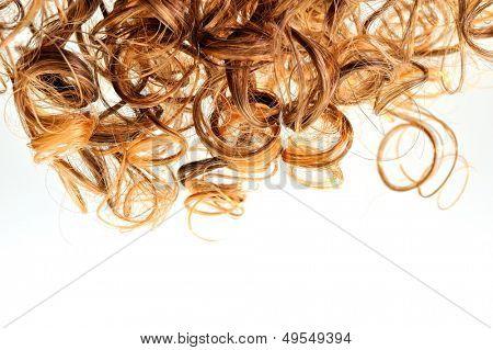 curly hair closeup