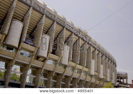Soccer Stadium Santiago Bernabeu in Madrid. Spain poster