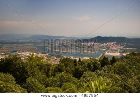 Santa Luzia Hill. Viana Do Castelo And Lima River View, Portugal