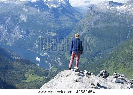Woman Enjoying View