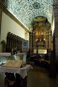Altar and altarpiece of Se Cathedral in Viseu Portugal poster