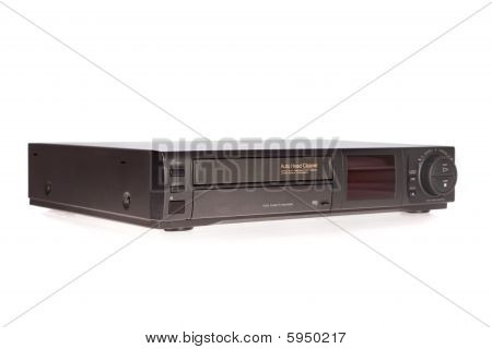 Old VCR Video Cassette Recorder