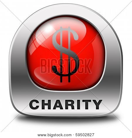 charity red icon fund raising raise money to help donate give a generous donation or help with the fundraise gifts