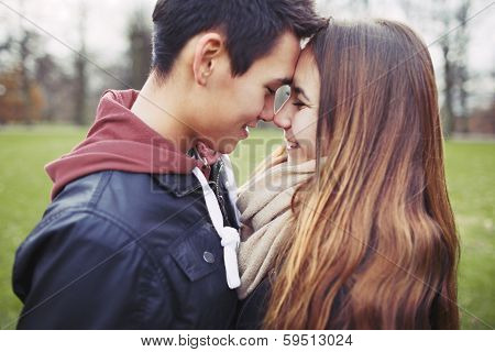 Romantic Young Couple Sharing A Special Moment