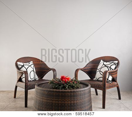 Two Basket Weaved Seater