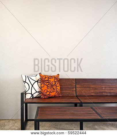 Garden Bench As Interior Furniture